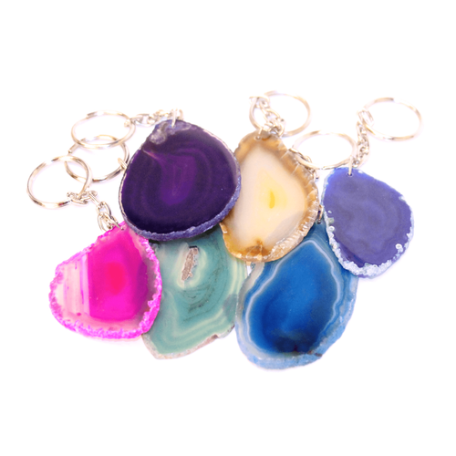 Agate Coloured Keyring