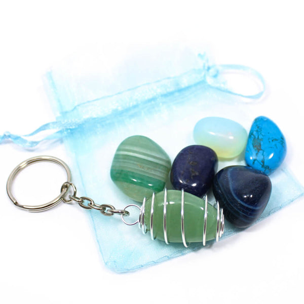 Blue/Green Kids Interchangeable Keyring Pack