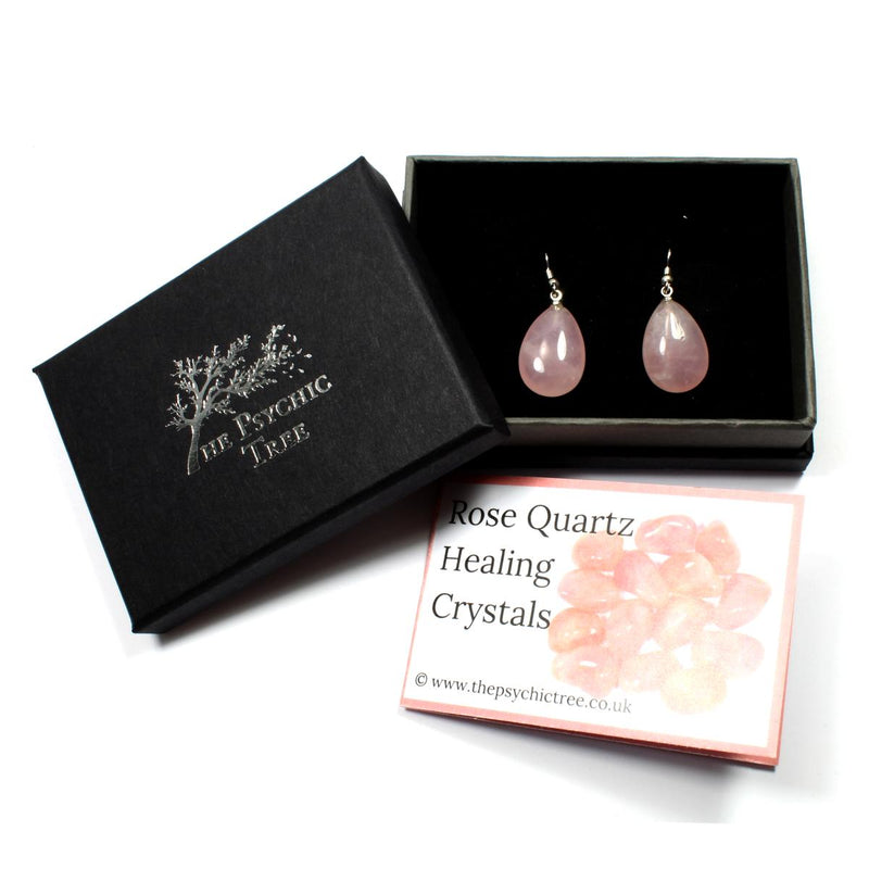 Rose Quartz Teardrop Earrings
