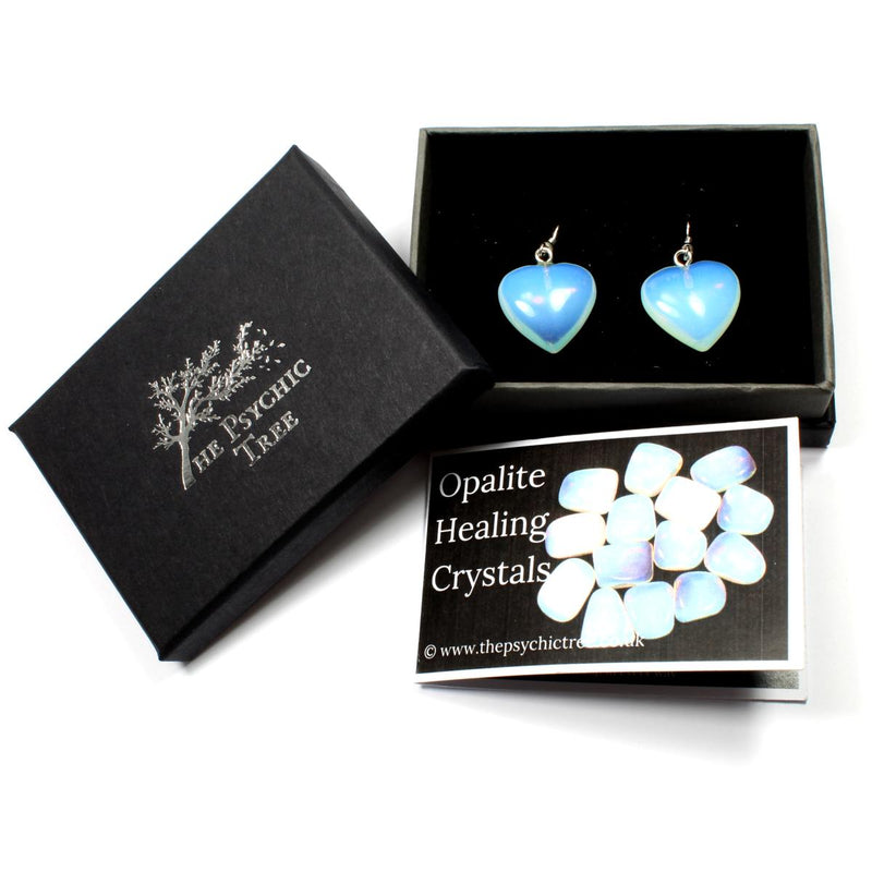 Opalite Heart Earrings