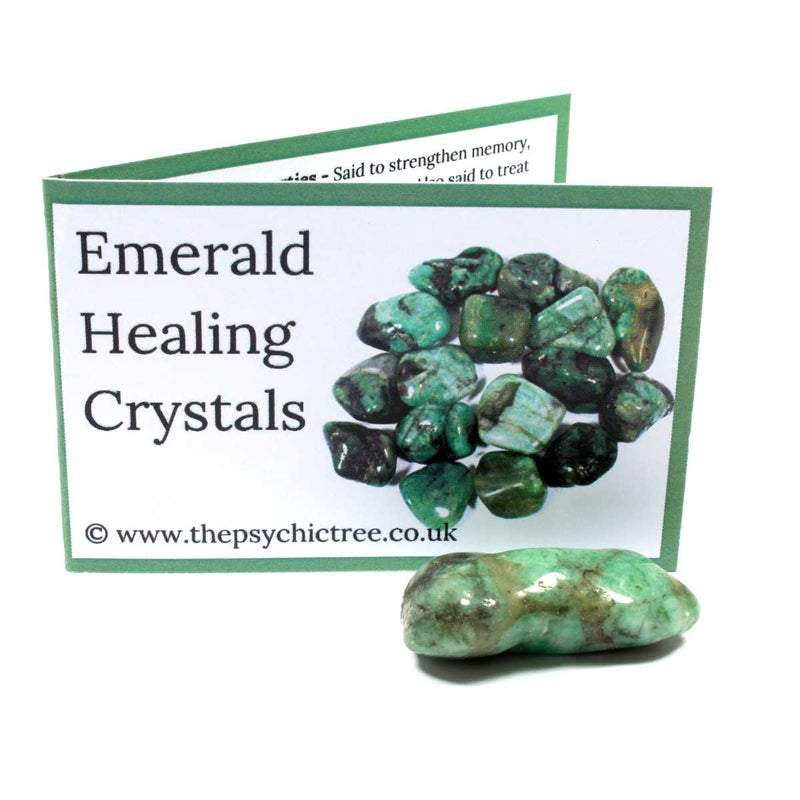Emerald Polished Tumblestone Healing Crystals