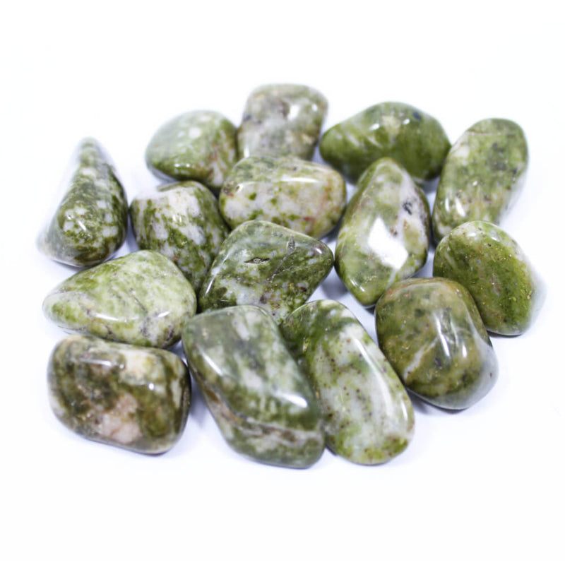 Spotted Epidote Polished Tumblestone Healing Crystals
