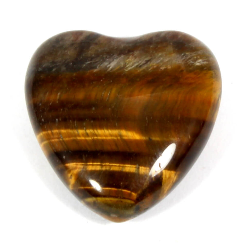 Gold Tigers Eye Mini Heart