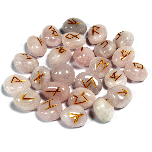 Medium Rose Quartz Rune Stones