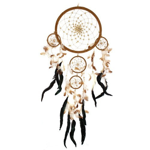 Large Bali Dreamcatcher - Coffee