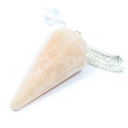 Moonstone Faceted Cone Pendulum