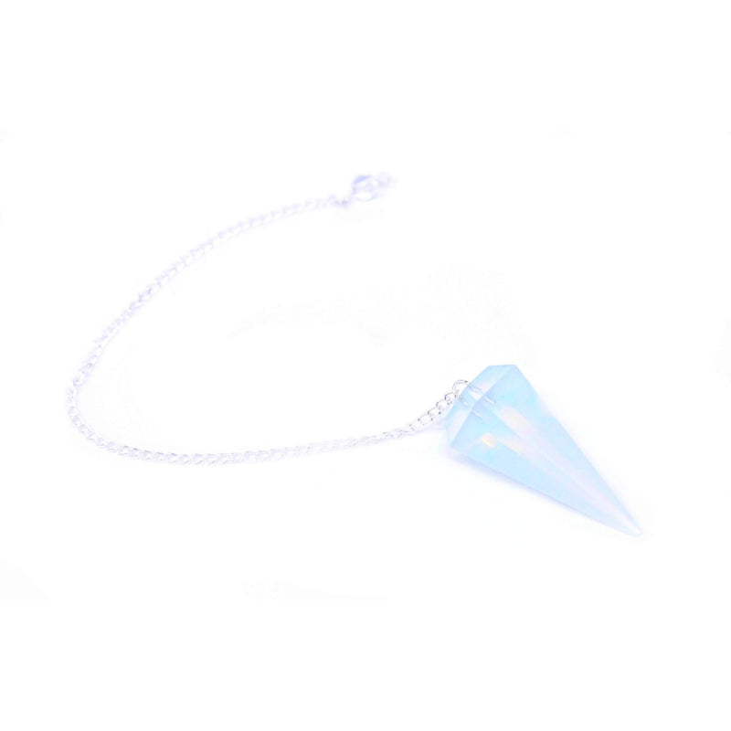 Opalite Faceted Cone Pendulum