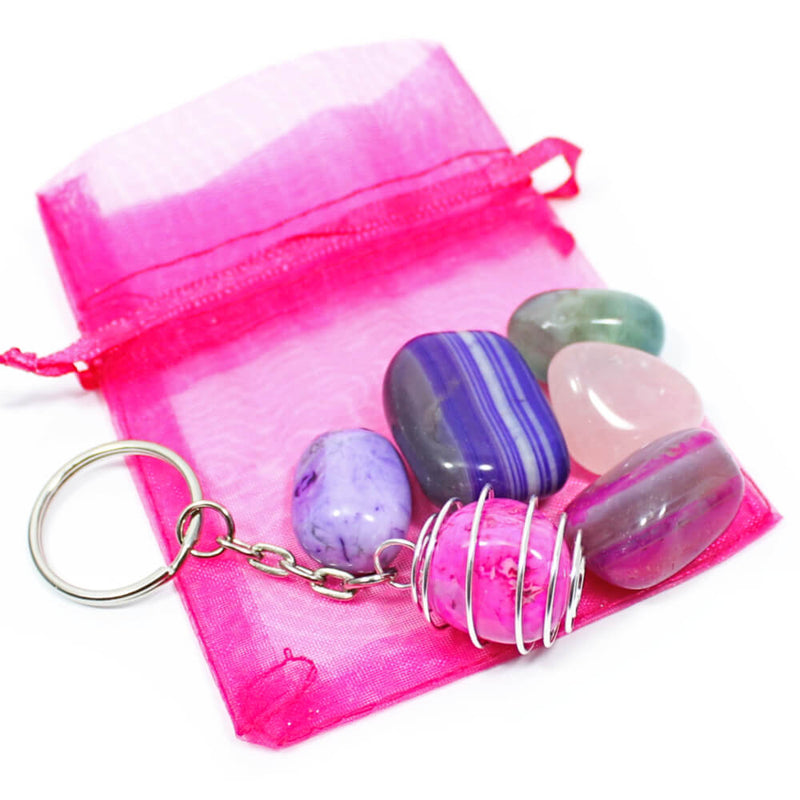 Pink/Purple Kids Interchangeable Keyring Pack