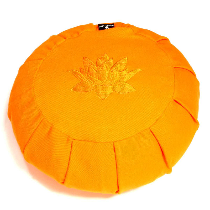 Yoga Studio Round Lotus Organic Buckwheat Cushion  - Saffron