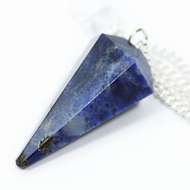 Sodalite Faceted Cone Pendulum