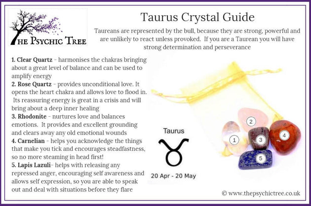 Taurus - Sign Of The Zodiac Healing Crystal Pack