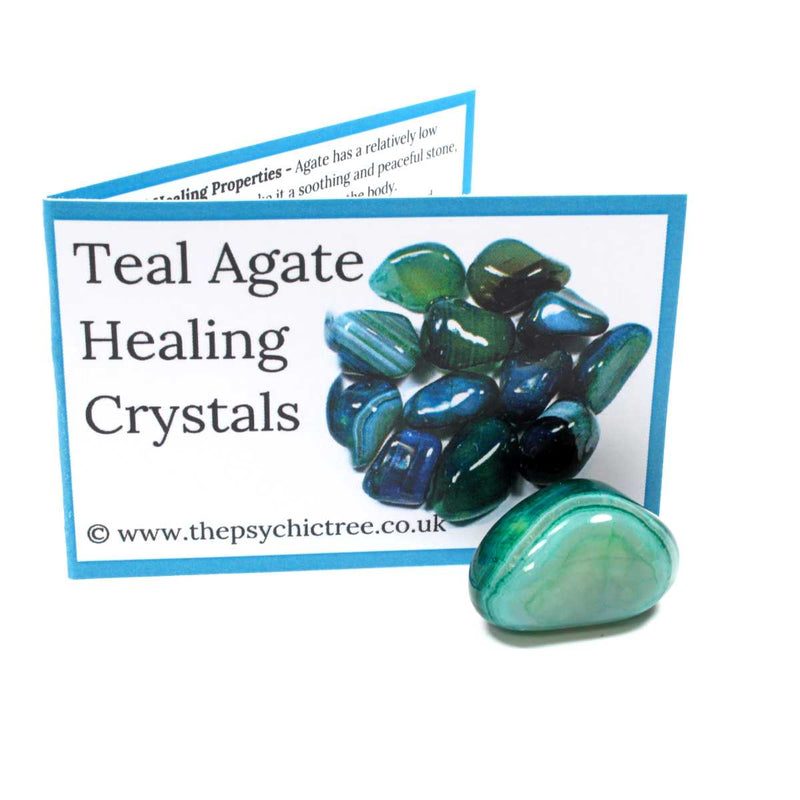 Teal Agate Crystal & Guide Pack