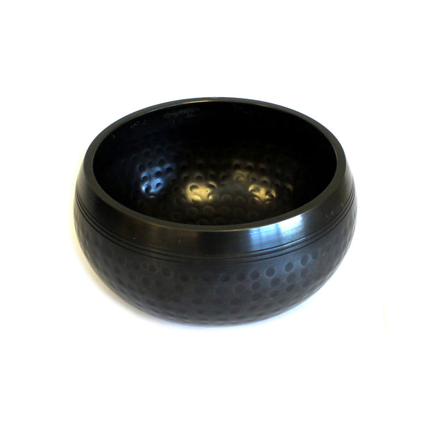 Small Black Beaten Singing Bowl