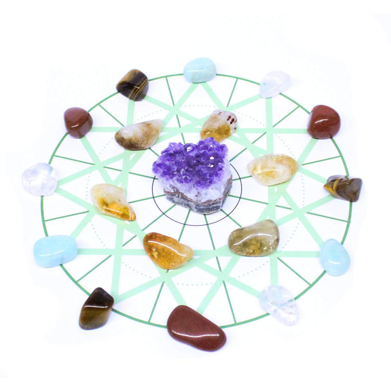 Willpower Healing Crystal Grid Pack