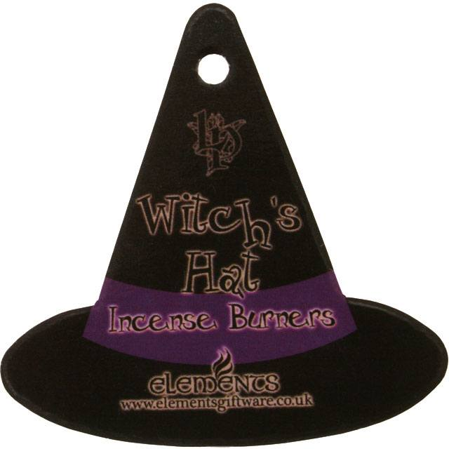 Witches Hat with Cat Incense Cone Holder