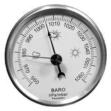 Youshiko 3 in 1 Weather Station for Indoor and Outdoor Use , Barometer Thermometer Hygrometer , Stainless Steel