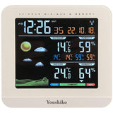 Weather Station ( Premium Quality ) Radio Controlled Clock ( UK Version ) , Indoor Outdoor Temperature Thermometer, Humidity