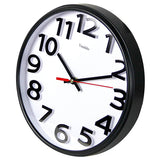 "Stylish Black & White Bold 3D Classic Quartz Large 12"" Wall Clock Non Ticking Silent"