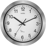 Youshiko Radio Controlled Wall Clock (Official UK & Ireland Version), Premium Quality, Silver Bold Classic Design, Aluminum Case 30cm,