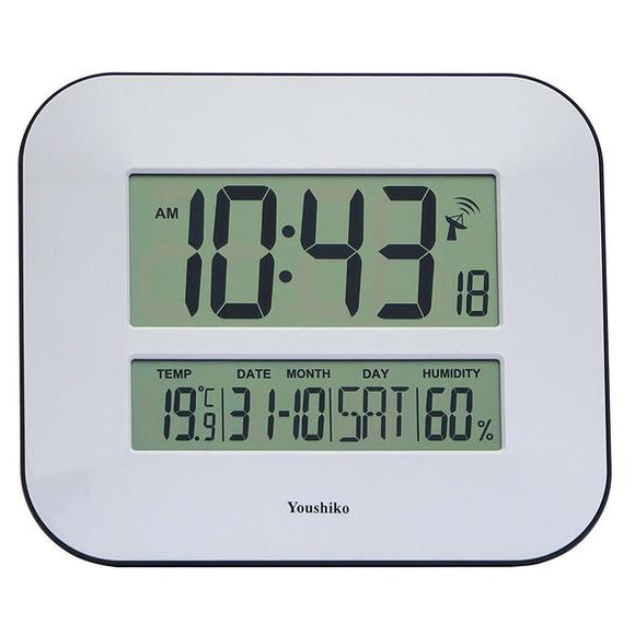 Jumbo LCD Radio Controlled Wall Clock with Temperature and Humidity display  YC8010