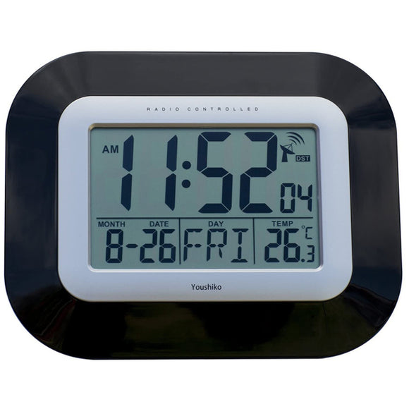 Radio Controlled LCD Wall Mountable and Desk Clock  YC8021