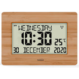 Radio Controlled Silent Large LCD Wall Clock (Offical UK Version) Auto Set Up with Day Date Month Helpful for DEMENTIA & ALZHEIMER SUFFERERS