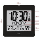 Large Jumbo LCD Radio Controlled Wall Clock  with Temperature and Humidity display  YC8059