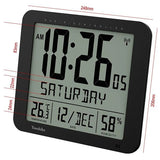 Large Radio Controlled Wall Clock with Large 3.27 inches Time digits YC8061