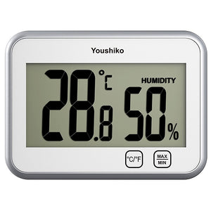 Youshiko YC9060 Digital Thermometer Hygrometer  with Touch Buttons