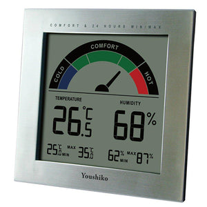 Youshiko YC9066 Digital Thermometer Hygrometer with Comfort Level Display