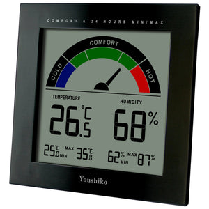 Digital Thermometer Hygrometer with Comfort Level Display