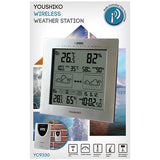 Weather Station with Radio Controlled Clock  Indoor Outdoor Temperature Thermometer, Humidity, Date & Frost Alarm
