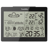 Youshiko YC9360 Digital Weather Station with Radio Controlled Clock ( Official UK version),  Indoor Outdoor Temperature Humidity , Sunrise & Sunset , Moonrise & Moonset Times , Barometric Pressure