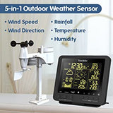 Professional Complete Colour Weather Station YC9386 ,  Radio Control Clock ( UK Version ) ,   5-in-1  Wireless Sensor