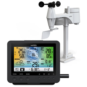 YOUSHIKO YC9387 ( W ) OFFICIAL UK VERSION WIFI INTERNET WUNDERGROUND & WEATHERCLOUD , PROFESSIONAL 5-IN-1 WEATHER STATION ( PREMIUM QUALITY )