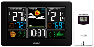 Weather Station YC9441 Radio Controlled Clock (Official UK Version), Temperature  Humidity, Barometric Pressure,