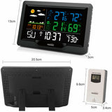 Youshiko YC9442 Weather Station, Radio Controlled Clock (Official UK Version), Temperature  Humidity, Barometric Pressure