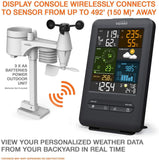 PROFESSIONAL COMPLETE WEATHER STATION YC9465 , RADIO CONTROL CLOCK ( UK VERSION ) , 5-IN-1 WIRELESS SENSOR