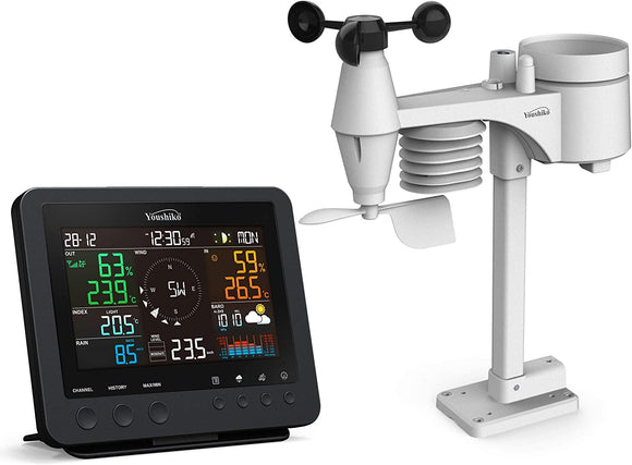 PROFESSIONAL COMPLETE WEATHER STATION YC9466 , RADIO CONTROL CLOCK ( UK VERSION ) , 7-IN-1 WIRELESS SENSOR