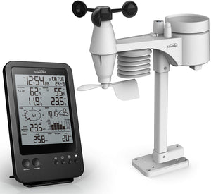 PROFESSIONAL COMPLETE WEATHER STATION YC9389 , RADIO CONTROL CLOCK ( UK VERSION ) , 7-IN-1 WIRELESS SENSOR