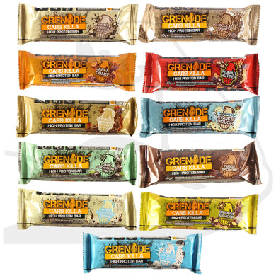 Mixed Box of Grenade Carb Killa bars - 12 bars - NutriVault
