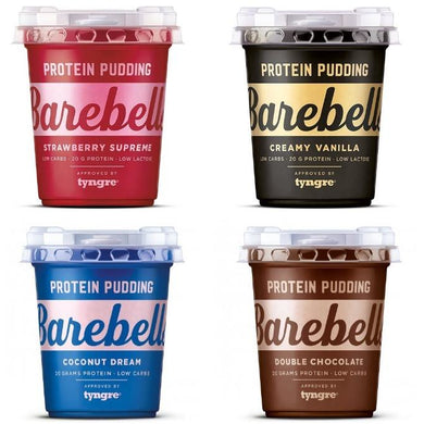 Multipack of 4 Barebells Protein Puddings 200g pots - 1 x each flavour - NutriVault
