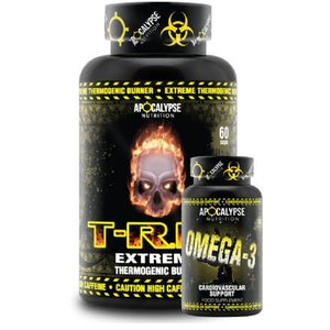 Apocalypse Nutrition T-Rip Extreme Thermogenic 60 Caps - SPECIAL FREE OMEGA 3 - NutriVault