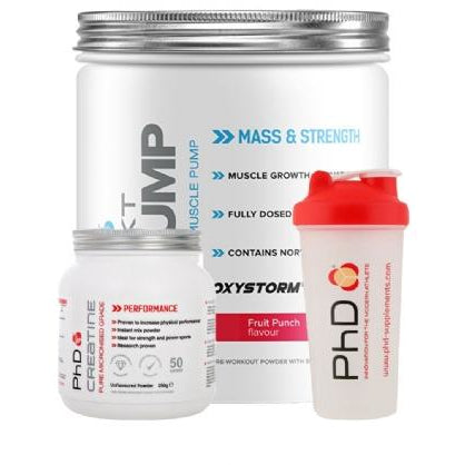 PhD Nutrition Pre-WKT Pump Pre Workout - 200g - SPECIAL FREE CREATINE AND SHAKER - NutriVault