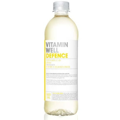 Vitamin Well 500ml x 12 - Defence - CITRUS/ELDERFLOWER - NutriVault