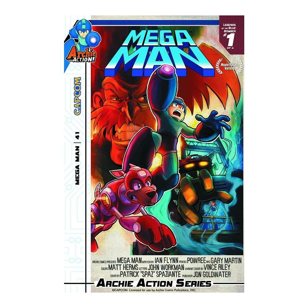 MEGA MAN #41 CVR MOVIE POSTER VAR VAR - COMIC BOOK - Comics