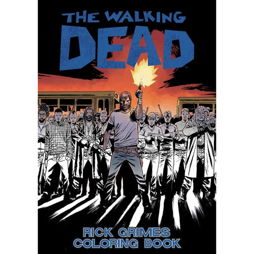 WALKING DEAD RICK GRIMES ADULT COLORING BOOK - BOOK - NOVEL/SF/HORROR - Books-Novels/Sf/Horror