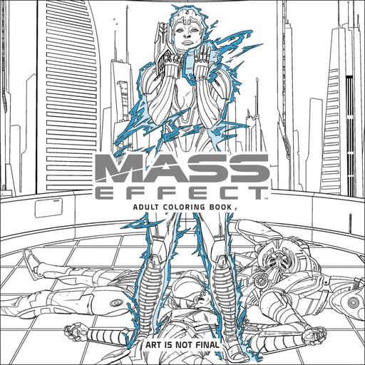 MASS EFFECT ADULT COLORING BOOK PAPERBACK - Books Novels/SF/Horror