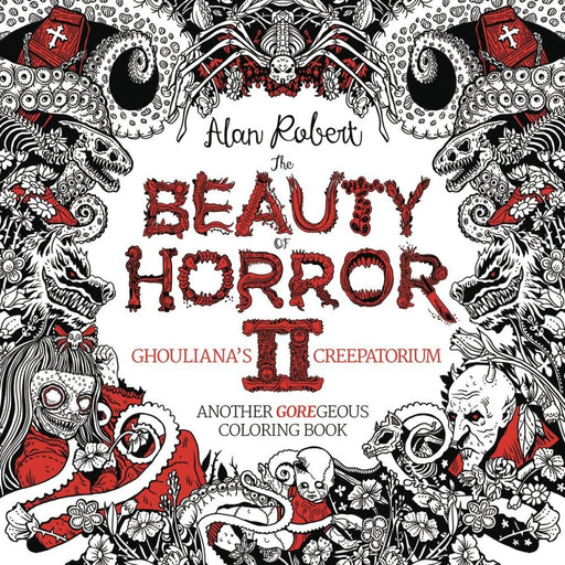BEAUTY OF HORROR GOREGEOUS COLORING BOOK VOLUME 2 TPB - Books Novels/SF/Horror