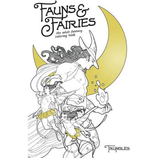 FAUNS AND FAIRIES ADULT COLORING BOOK - Books-Graphic-Novels